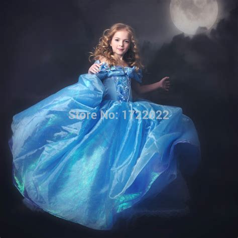 cinderella film for 5 year old free shipping retail movie 3 to 9 years old baby dress