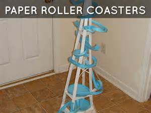 How To Make A Roller Coaster With Paper - paper roller coasters by busch