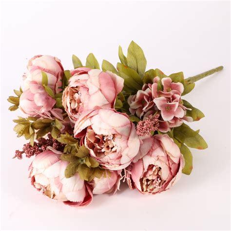 Wedding Silk Flowers Uk by Artificial Silk Bridal Flowers Leaf Wedding Bouquet