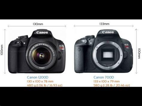 canon 1200d vs canon 700d youtube