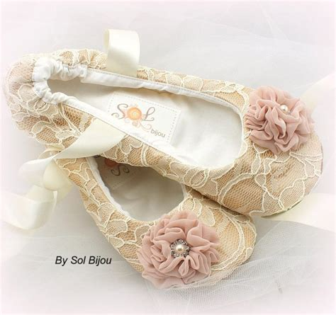 bridal slippers ivory ballet flats chagne ivory blush wedding shoes