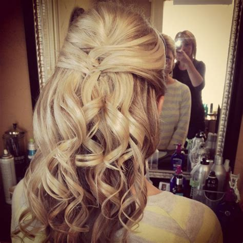 wedding half updo hair styles updo curls and