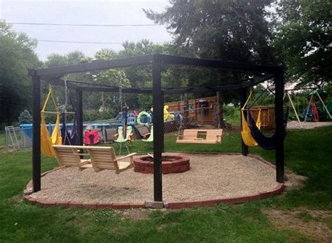 diy pit swing set amazing porch swing pit designs ideas