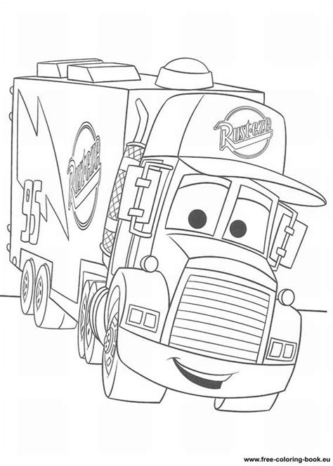 Coloring Pages Cars Disney Pixar Page 1 Printable Free Disney Cars Coloring Pages