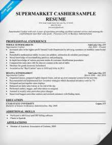 Exle Of Cashier Resume by Grocery Store Cashier Resume Ilivearticles Info