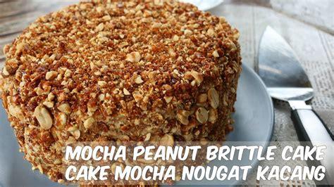 Moca Nougat Cake mocha peanut nougat cake recipe resep mocha nougat cake 摩卡花生蛋糕 luksunshine
