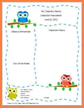 7 free preschool newsletter template microsoft word