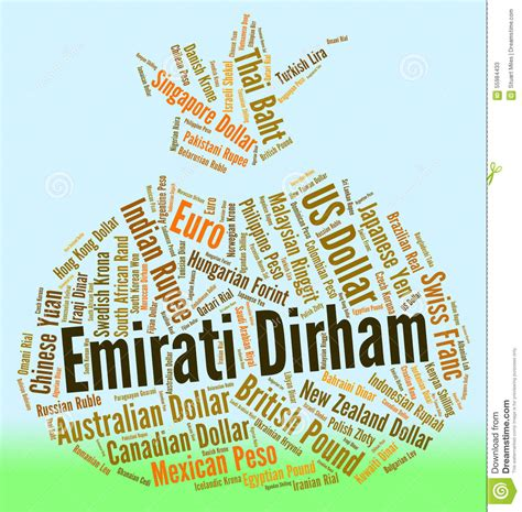 United Gift Card Exchange Rate - emirati dirham means united arab emirates and banknote stock illustration image
