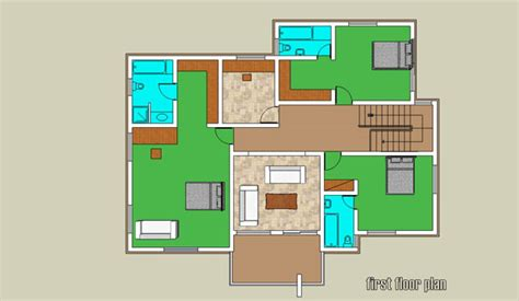 1 Bedroom Guest House Floor Plans belham estate 4 bedroom duplex bam projects