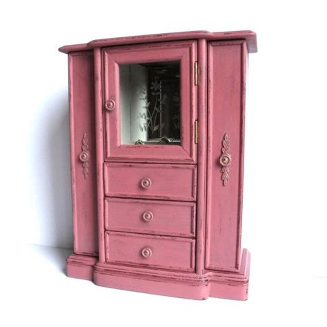 pink jewelry armoire pin by k fox on pretty little jewelry box pinterest