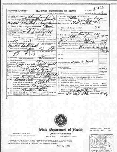 Oklahoma County Birth Records Marshall County Archives Vital Records Birth And Marriages