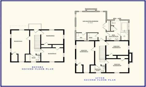 2nd Story Addition Floor Plans | second story addition floor plan up stairs addition ideas