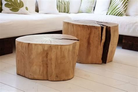 coffee table from tree stump home