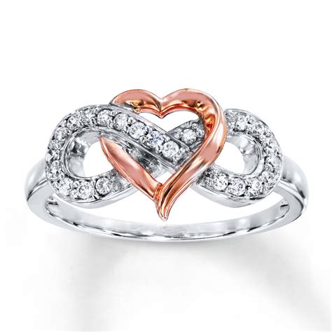 Infinity Ring With Diamonds Infinity Ring 1 6 Ct Tw Diamonds Sterling