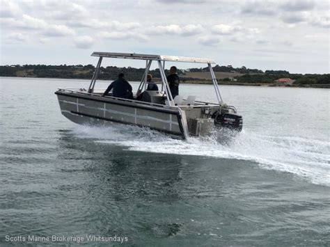 punt boats for sale victoria alumarine 6 5m punt commercial vessel boats online for