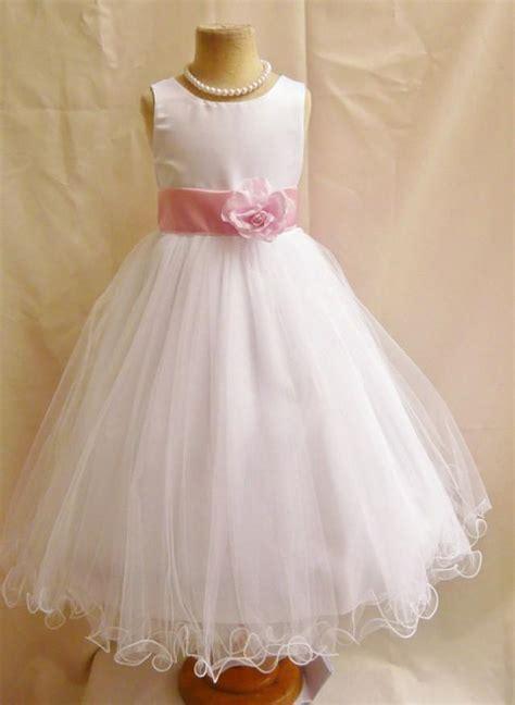 flower dresses white with pink light fd0fl