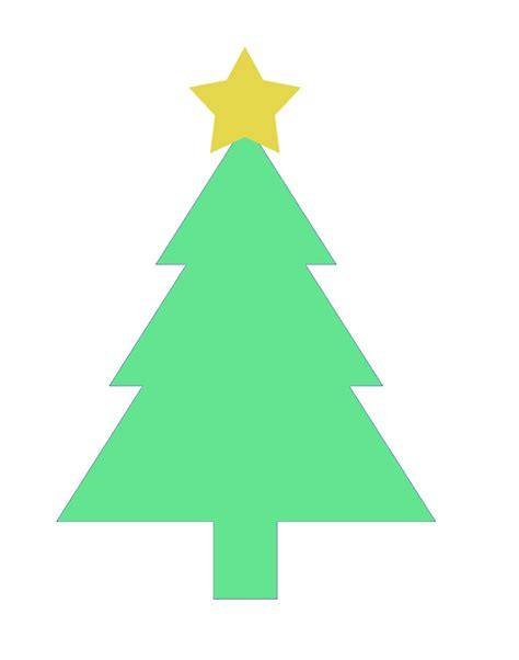 christmas tree tracing pattern tree template printable clipart best