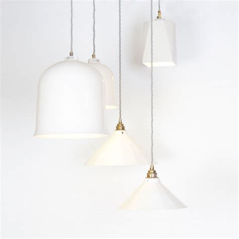 heals lighting pendant heal s bell pendant light in white by lyngard ceramics