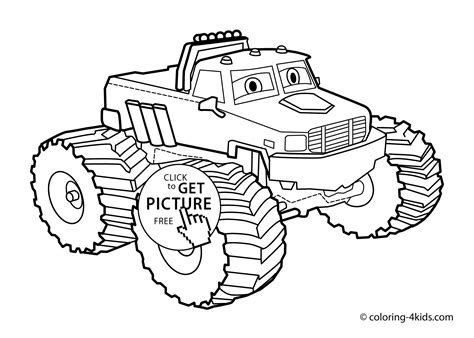 monster truck coloring page for kids monster truck