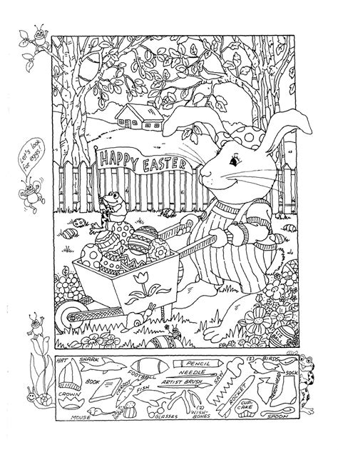 printable hidden pictures puzzles free coloring pages of easter hidden objects