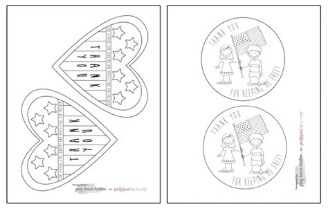 Cards For Veterans Template by Veterans Day Cards For To Color Project Nursery