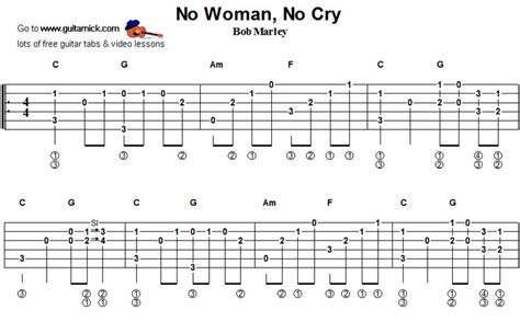 tutorial guitar no woman no cry no woman no cray bob marley fingerstyle guitar