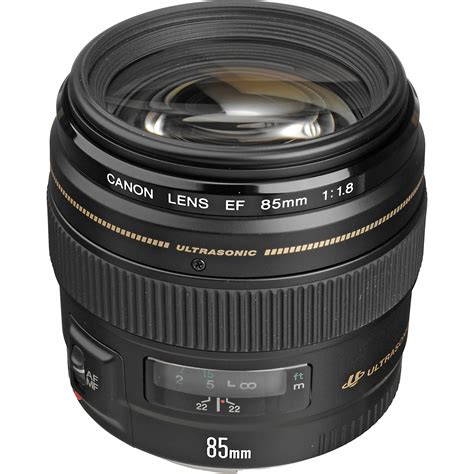 Lens Ef 85mm F 1 8 Usm by Canon Ef 85mm F 1 8 Usm Lens 2519a003 B H Photo