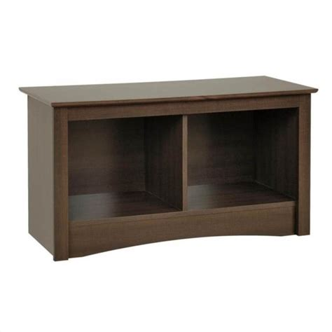 Small Bench With Storage Small Cubbie Storage Bench In Espresso Finish Esc 3620