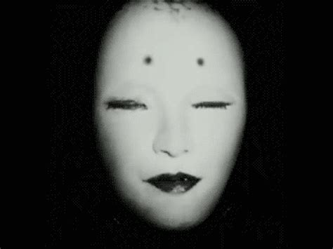 black and white oh the horror creepy gif