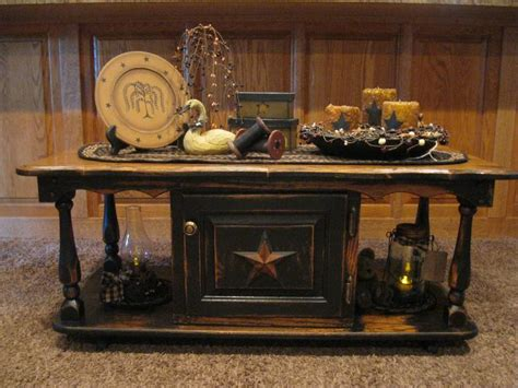 Coffee Table Primitive Things Pinterest