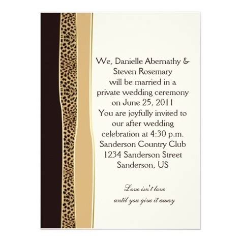 wedding invitation printing edmonton best 25 cheetah print wedding ideas on