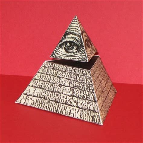 Pyramid Papercraft - eye of providence pyramid paper