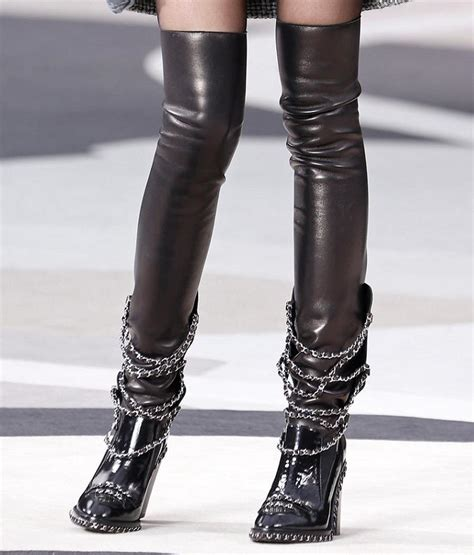 chanel boots fashion lifestyle chanel heeled biker boots fall 2013