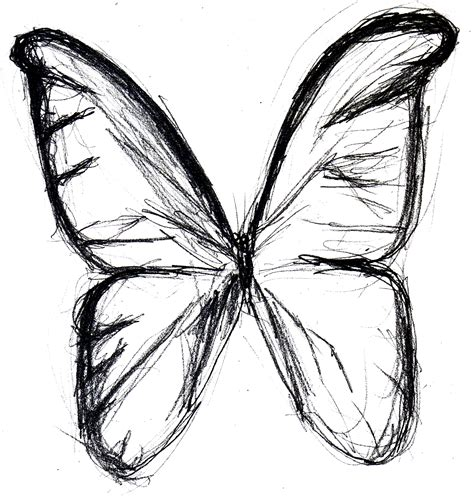 tattoo easy sketch butterfly drawings in pencil clipart best