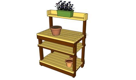 how to make a potting bench how to build a potting bench howtospecialist how to build step by step diy plans