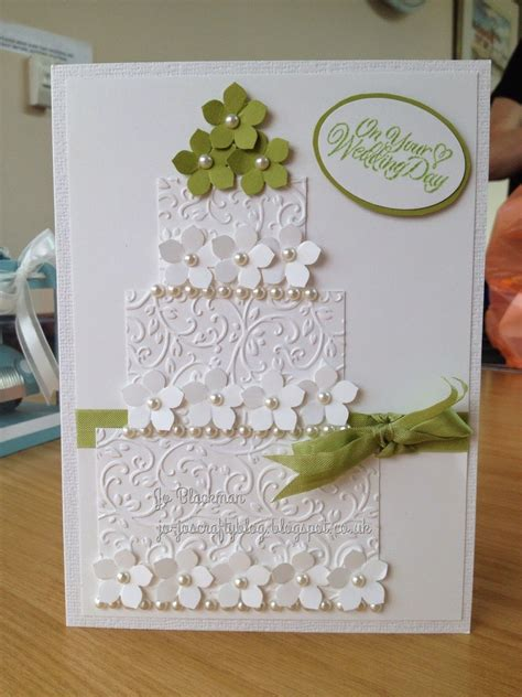 embossed floral wedding card crafterg3 weddi