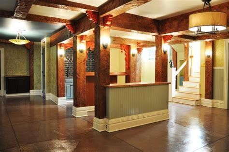 basement remodel traditional basement