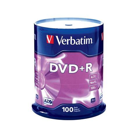 Dvd R Verbatim tarrina de 100 verbatim dvd r