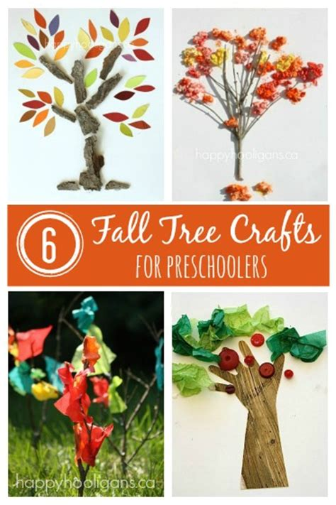 tree craft ideas for preschoolers 6 fall tree crafts for toddlers happy hooligans