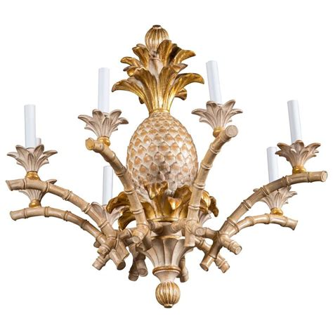 Pineapple Chandelier Italian Carved Wood Pineapple Chandelier For Sale At 1stdibs