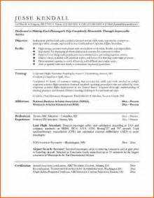 flight attendant resume templates flight attendant resume budget template letter
