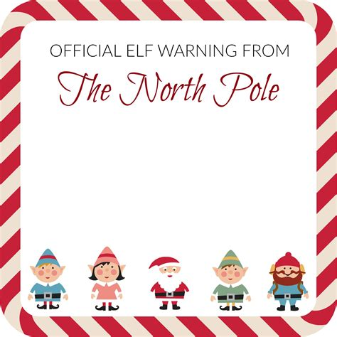 elf on the shelf official warning printable elf on the shelf elf warning note template notes to self
