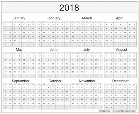 2018 Calendar Template Excel Free Templates Collections 2018 Free Calendar Template