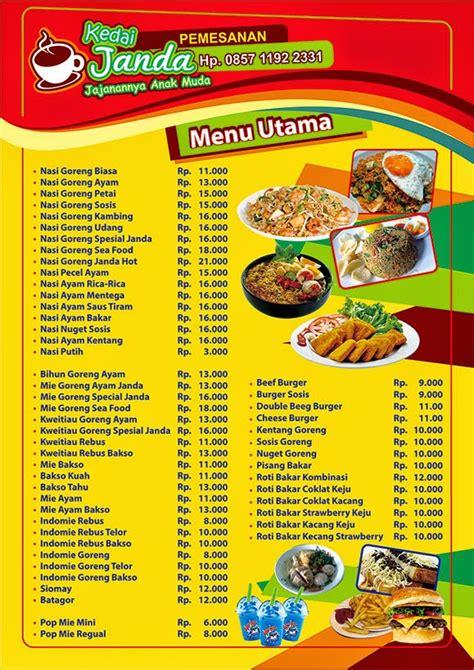 desain daftar menu makanan corel contoh desain daftar menu contoh desain grafis