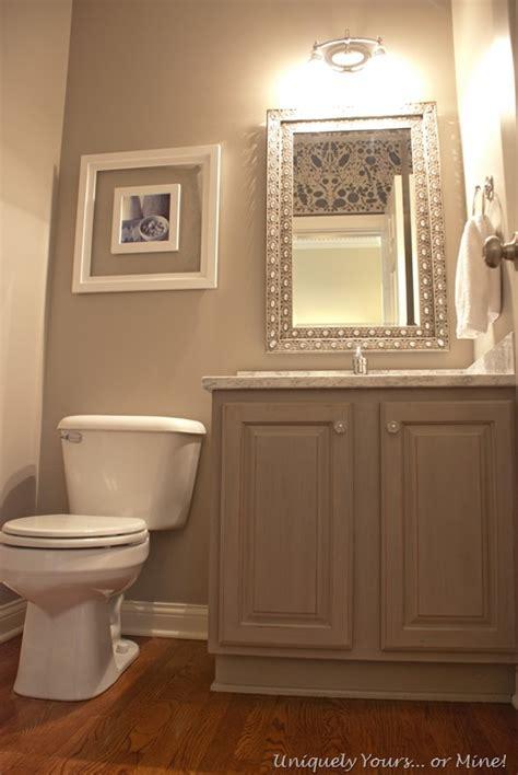 Easy Bathroom Makeover Ideas Gray Powder Room Uniquely Yours Or Mine