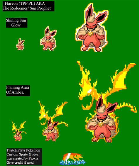 2014 A Twitch Odyssey Twitch Plays Pokemon Know Your Meme - twitch plays pokemon fanart flareon sprite by pioxys on