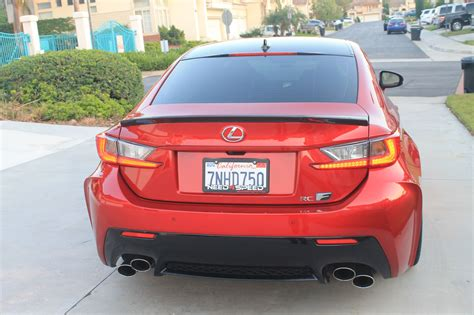 lexus rc 350 spoiler ca 1000 artisan spirits carbon fiber trunk spoiler for