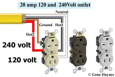 240 120 Volt Receptacle In 2019 Electrical Wiring Home