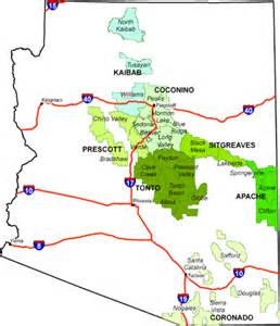 arizona national forest map map 2