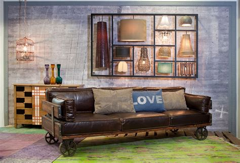 leather sofa with casters railway sofa by kare design